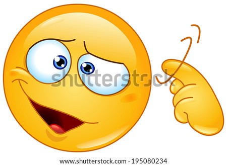 Yellow ball showing a screw loose sign by twisting his finger into temple. You are crazy sign. - stock vector