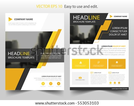 Yellow Black Abstract Brochure Annual Report Stock Vector