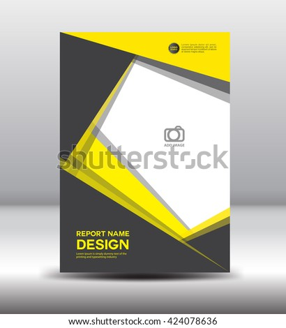 Booklet Template. A4 Document And Brochure, Vector Background