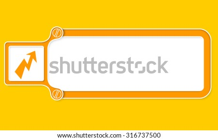 Yellow box with white frame for your text and flash - stock vector