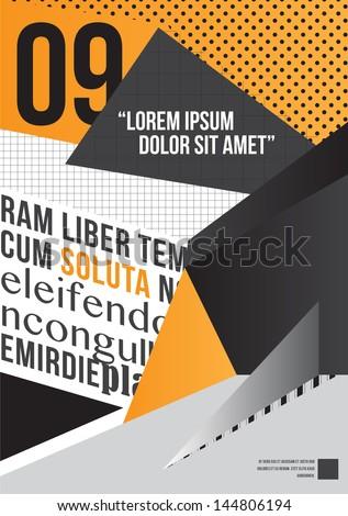 Yellow Brochure design - stock vector