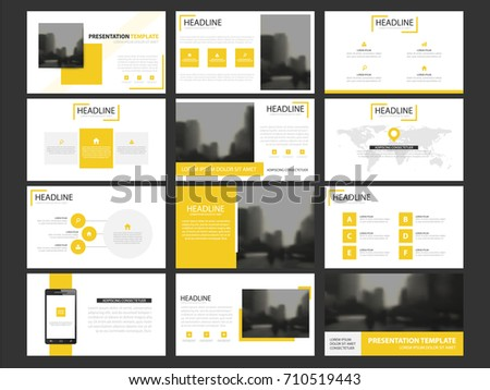 Yellow business presentation infographic elements template stock yellow business presentation infographic elements template set annual report corporate horizontal brochure design template cheaphphosting Choice Image