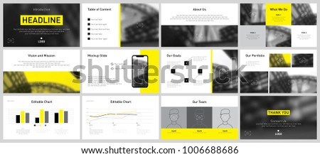Yellow business presentation templates set vector stock vector yellow business presentation templates set of vector infographic elements for presentation slides annual report cheaphphosting Gallery