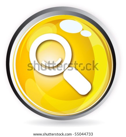 Yellow button - stock vector