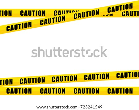 yellow caution tape isolated on white stock vector 2018 723241549 rh shutterstock com Caution Tape Drawing Cartoon Caution Tape