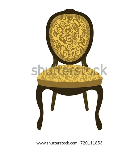 Bon Vector Illustration Vintage Chair. Elegant Chair.