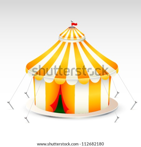 Yellow circus tent vector illustration - stock vector