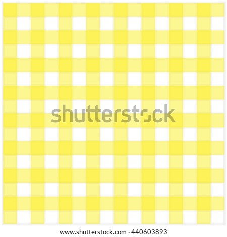Yellow Classic Checkered Tablecloth Texture Vector