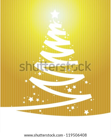 yellow color Vintage christmas card - stock vector