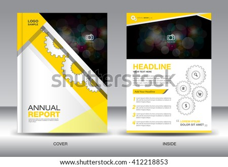 Yellow cover design annual report template stock vector 412218853 yellow cover design annual report template business brochure flyer infographics elements poster spiritdancerdesigns Image collections
