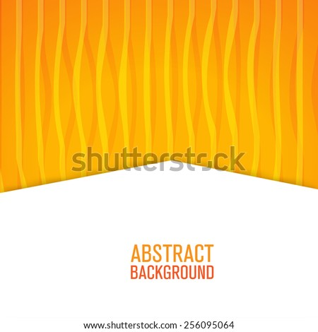 Yellow creative lines paper style background - stock vector