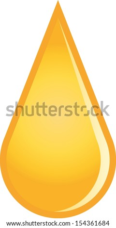 Yellow drop - stock vector