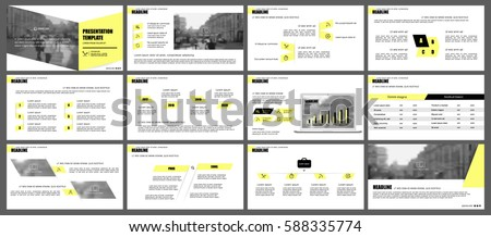 Yellow elements of infographics for minimalist design style on a white background. Use in presentation templates, flyer and leaflet, corporate report, marketing, advertising, annual report and banner.