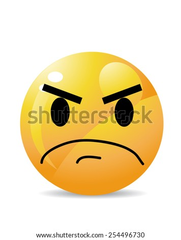 Yellow emoticon cartoon character - stock vector
