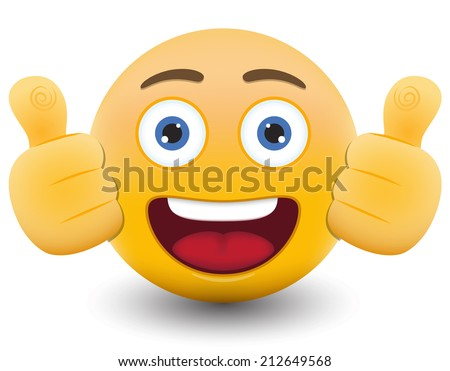 Yellow emoticon cartoon character eps 10 vector - stock vector