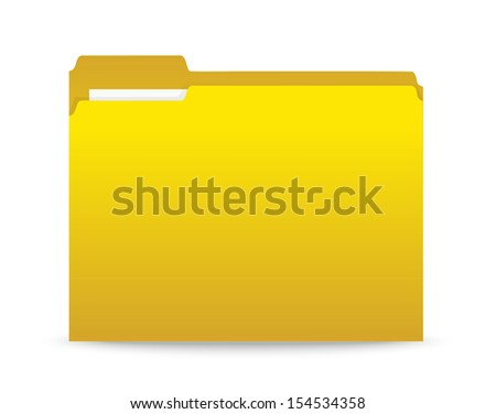 yellow folder  - stock vector