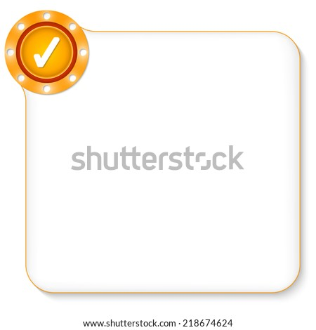 yellow frame for any text with check box - stock vector