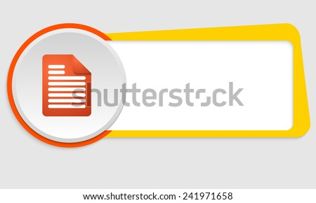 yellow frame for text and power document icon