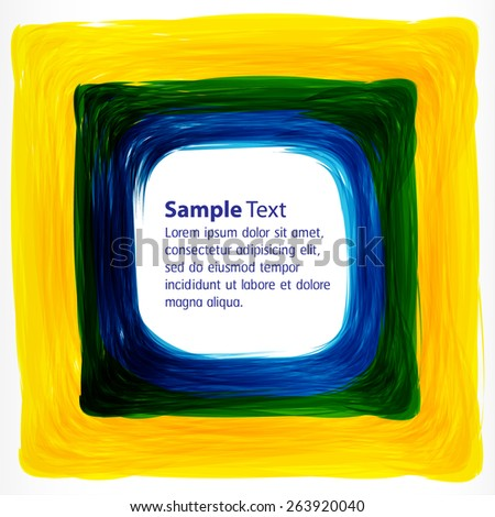 yellow green blue Abstract acrylic hand painted background. Light Technology background for computer graphic website internet business. text box. card. banner. label. Brochure. vector. illustration. - stock vector