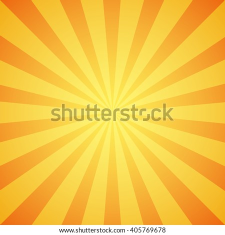 Yellow grunge sunbeam background. Sun rays abstract wallpaper. Vector illustration - stock vector