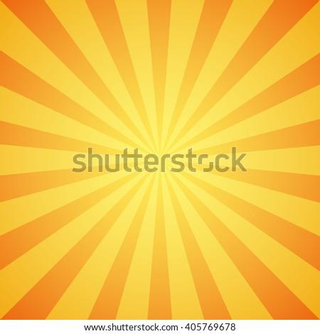 Yellow grunge sunbeam background. Sun rays abstract wallpaper. Vector illustration - stock vector