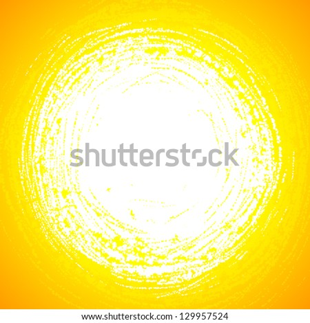 Yellow grunge vector sun reflection in abstract water - stock vector