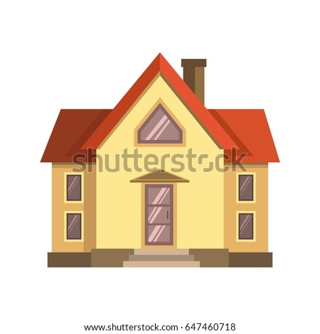 Yellow house with red roof