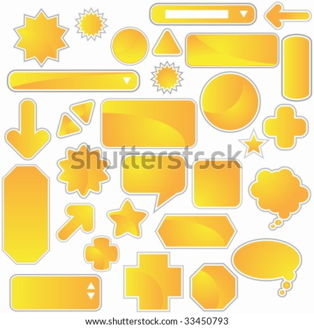 yellow icon web set