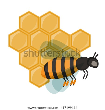 Yellow insect honey bee isolated on white. Bee worker animal fly buzz and wing cartoon sting antenna golden bee worker. Bee worker beekeeping bug vector and bumble stinger character honey bee worker.
