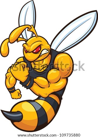 yellow jacket mascot vector illustration simple stock vector 2018 rh shutterstock com Fighting Yellow Jacket Clip Art Yellow Jackets School Mascot