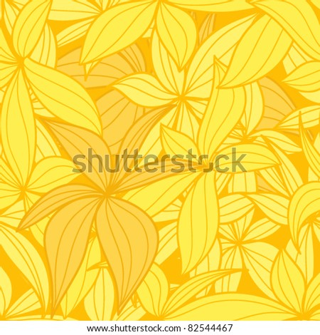 Yellow leaves seamless background