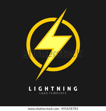 Logo Template For Electric Company And Superhero Vector Eps