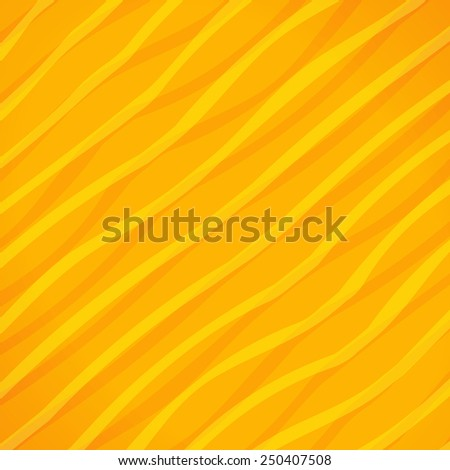 Yellow lines paper style background - stock vector
