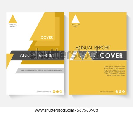 Flyer template business brochure editable a4 stock vector for Powerpoint brochure template