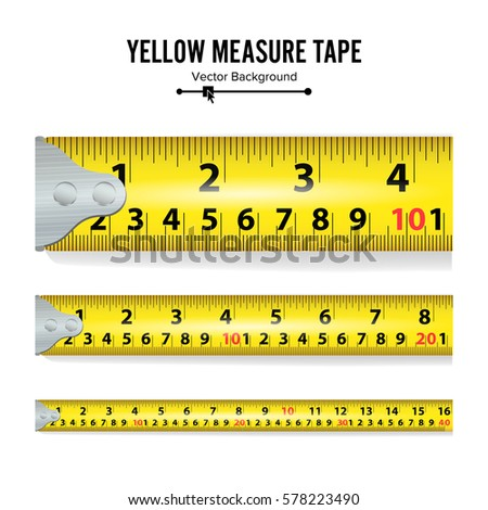 Yellow measure tape vector centimeter inch stock vector for M to inches
