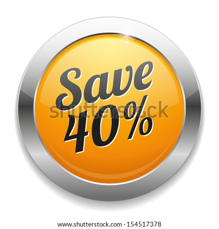 Yellow metallic save forty percent button