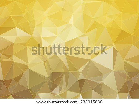 Yellow modern polygonal background for your design - stock vector