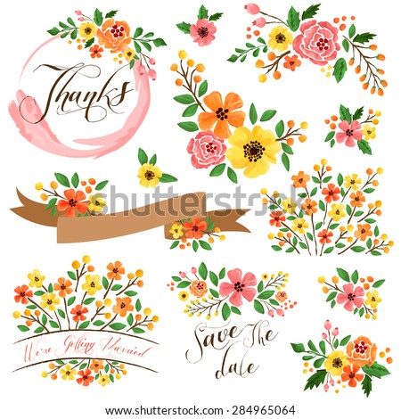 Pink And Orange Flowers Stock Images Royalty Free Images