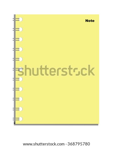 yellow page - notebook Vector - stock vector