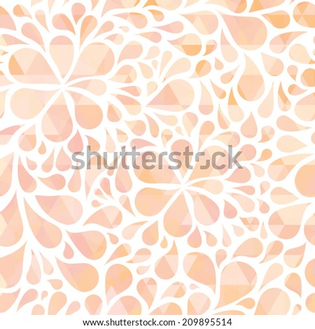 Yellow polka dot background. Vector illustration - stock vector