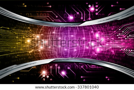 yellow purple pink Light Abstract Technology background for computer graphic website internet and business. circuit. illustration. infographics. binary code background. www.vector.Spark.zero one