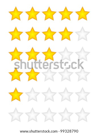 Yellow rating stars vector - stock vector