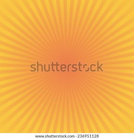 yellow red background : sunburst vector - stock vector
