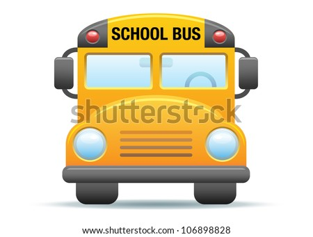 Yellow School Bus Illustration - stock vector