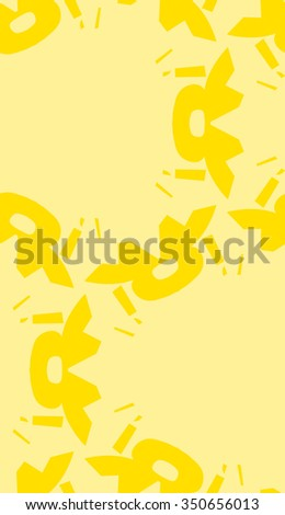 Yellow shapes in repeating wallpaper pattern