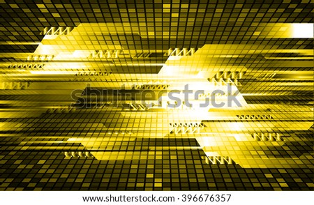 yellow silver abstract vector hi speed internet technology background illustration, Background conceptual image of digital. eye scan.