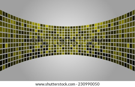yellow silver Vector abstract design. pixels mosaic background computer graphic website and internet. - stock vector