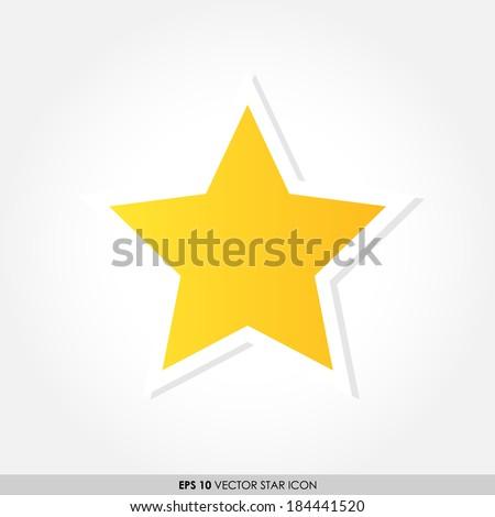 Yellow star vector icon - stock vector