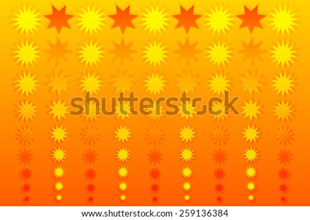 Yellow Stars - stock vector