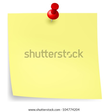 Yellow sticker.  Illustration for design on white background - stock vector